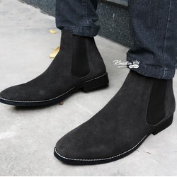 Giày cao cổ chelsea boot da lộn siêu bụi thời trang cá tính