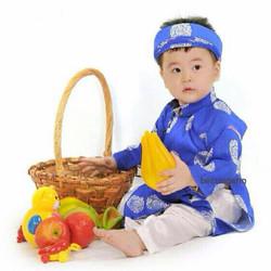Áo dài Thái tuấn cho bé trai đón tết - gồm KHĂN XẾP, ÁO, QUẦN