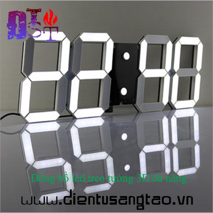 Đồng hồ led treo tường 3D đa năng - Hàng cao cấp 3