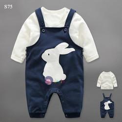 S75- Set body hình thỏ kèm áo trắng tay dài