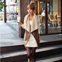 áo khoác lông dáng dài sát nách Mã: AO3191