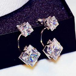 Bông tai nụ sát vành tai đính kim cương nhân tạo cá tính sang trọng