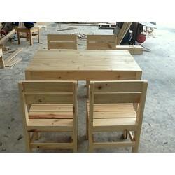 Bộ bàn ghế gỗ thanh lý 0975 717 038