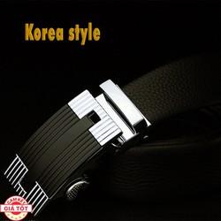 Thắt Lưng Nam Korean Style Đen Chất Liệu Da Bò