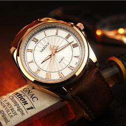 [FreeShip] Đồng hồ kim nam dây da Yazole