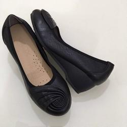 Giày Da Đế Xuồng Nữ Cao 5cm Đính Nơ Rất Xinh Và Dễ Thương