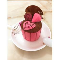 Bánh kem vải nỉ handmade hương dâu chocolate