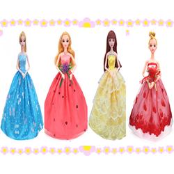Bộ 4 váy công chúa cho búp bê