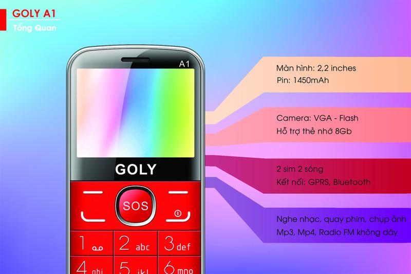 Điện thoại cho người lớn tuổi Goly A1 chính hãng 1