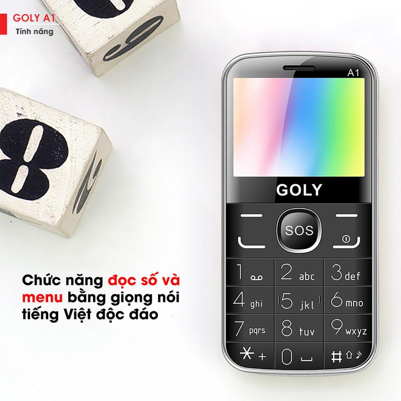 Điện thoại cho người lớn tuổi Goly A1 chính hãng 5