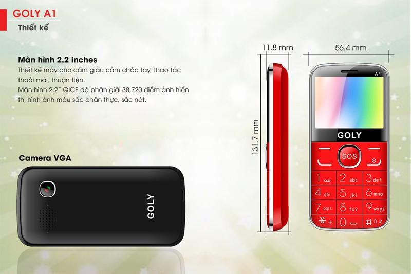 Điện thoại cho người lớn tuổi Goly A1 chính hãng 3
