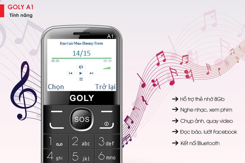 Điện thoại cho người lớn tuổi Goly A1 chính hãng 4