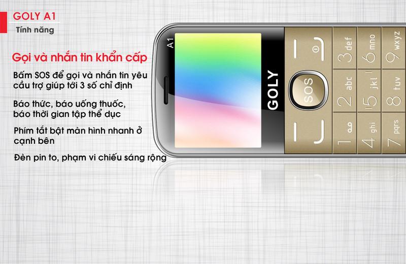 Điện thoại cho người lớn tuổi Goly A1 chính hãng 6