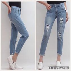 Quần Jeans rách vá xước