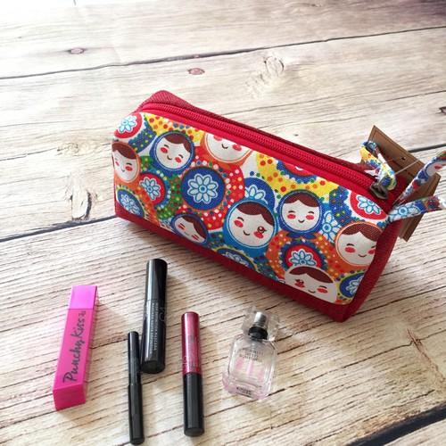 BEA2M07 - Túi makeup bag hình hộp size M búp bê nga