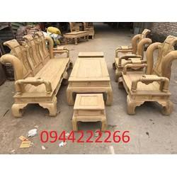 Bộ bàn ghế tần thủy hoàng gỗ cẩm vàng tay 12