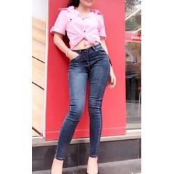 Quần jeans thun nữ co dãn cao cấp size S