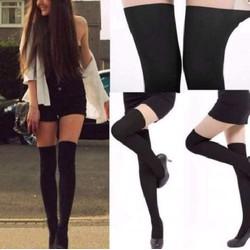 quần tất giả boot đùi màu da dưới màu đen