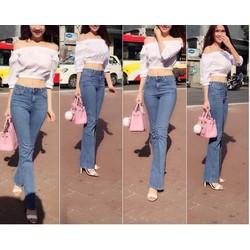 Quần jeans nữ ống loe hàng shop cao cấp size L
