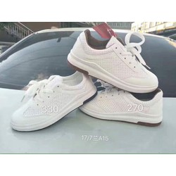 Giày thể thao trắng lót nâu