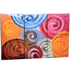 Bộ tranh sơn dầu 3 tấm ghép, kích thước 90x60cm. S19-2-vt
