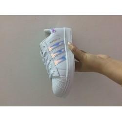 giày nữ trắng ba sọc dạ quang