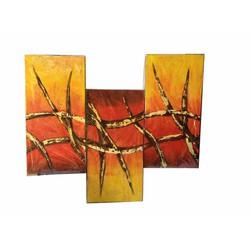 Bộ tranh sơn dầu 3 tấm ghép, kích thước 90x60cm. S19-2-gai