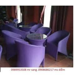 chuyên sản  xuất  bàn ghế càfe giá  rẻ