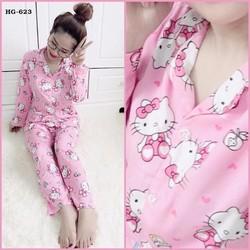 Bộ đồ pijama kitty hồng