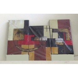 Bộ tranh sơn dầu 3 tấm ghép, kích thước 90x60cm. S19-2-HV