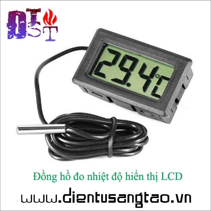 Đồng hồ đo nhiệt độ hiển thị LCD 3