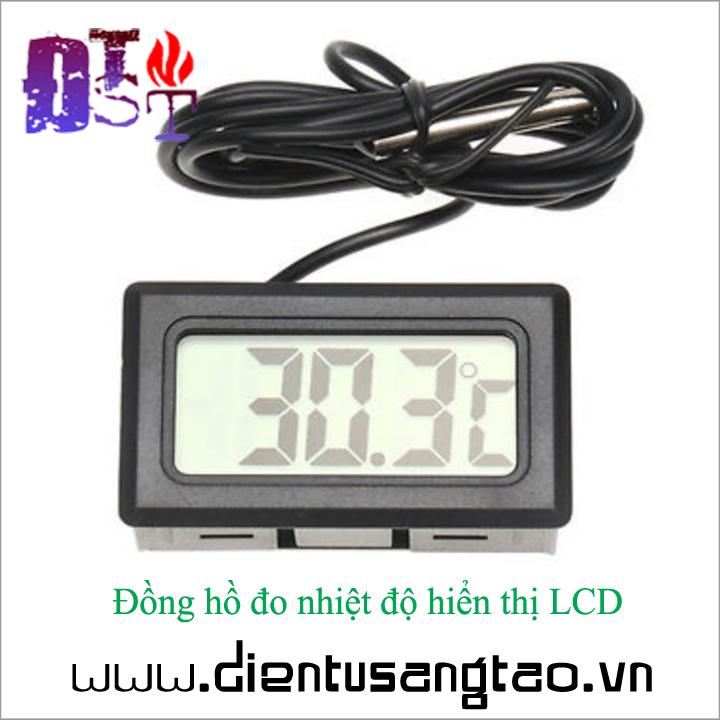 Đồng hồ đo nhiệt độ hiển thị LCD 2