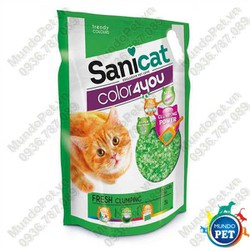 Sanicat - Cát thuỷ tinh vón cục hương thơm mát 5L