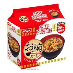Mì Tôm Thịt Nguyên Chất Nissin Nội Địa Nhật Bản