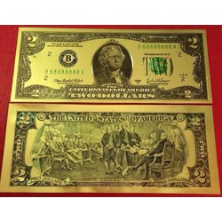 Combo 5 Tờ Tiền 2 USD  plastic