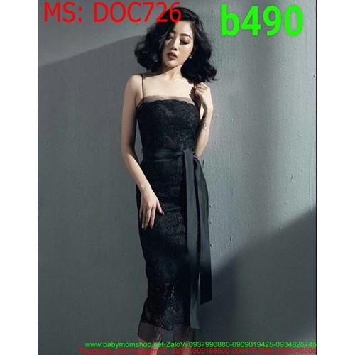 Đầm ôm body dự tiệc 2 dây ren đen sang trọng DOC726 - 10542588 , 8267226 , 15_8267226 , 490000 , Dam-om-body-du-tiec-2-day-ren-den-sang-trong-DOC726-15_8267226 , sendo.vn , Đầm ôm body dự tiệc 2 dây ren đen sang trọng DOC726