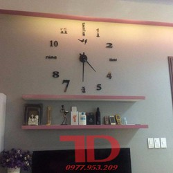 Đồng hồ dán tường nghệ thuật DIY