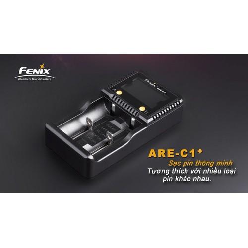 Sạc Fenix - ARE-C1+LCD Screen - tương thích nhiều loại Pin