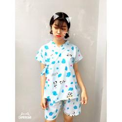 Set bộ mặc nhà Yukata họa tiết siêu Cute