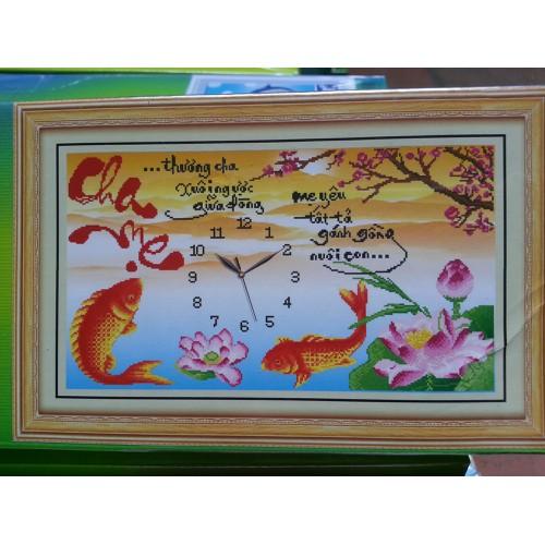 Tranh đính đá đồng hồ cha mẹ - 10542224 , 8263457 , 15_8263457 , 149000 , Tranh-dinh-da-dong-ho-cha-me-15_8263457 , sendo.vn , Tranh đính đá đồng hồ cha mẹ