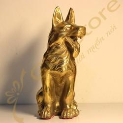 Tượng Chó Sói Đồng - Quà tặng độc đáo