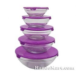 Bộ 5 bát thủy tinh cao cấp Glass Bowl
