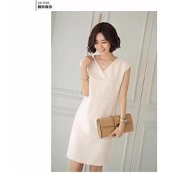 Set Đầm suông trắng khoác vest