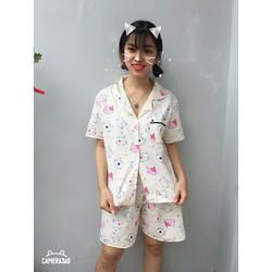 Set bộ mặc nhà pijama họa tiết siêu Cute