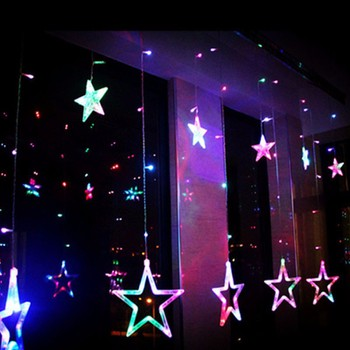 Đèn led rèm 6 ngôi sao lớn, 6 ngôi sao nhỏ