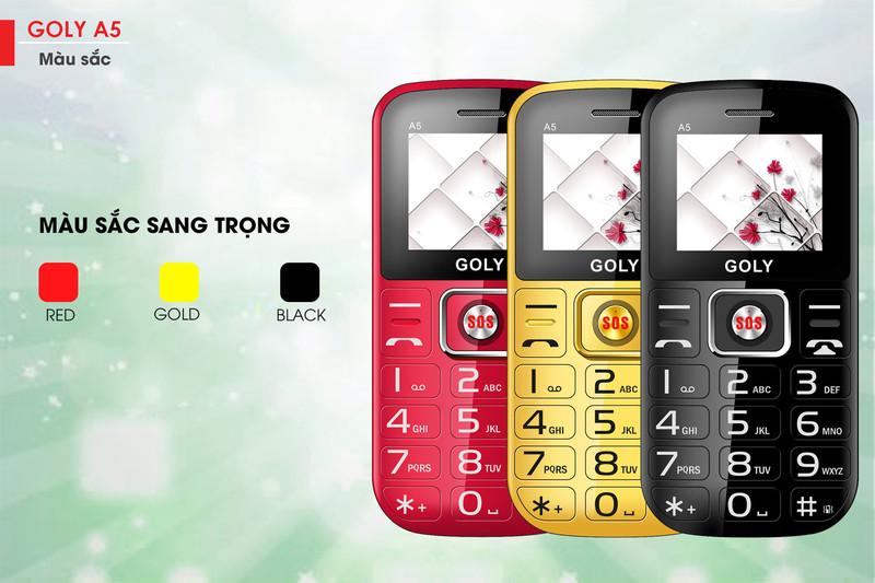 Điện thoại dành cho người già Goly A5 - Hãng phân phối chính thức 3