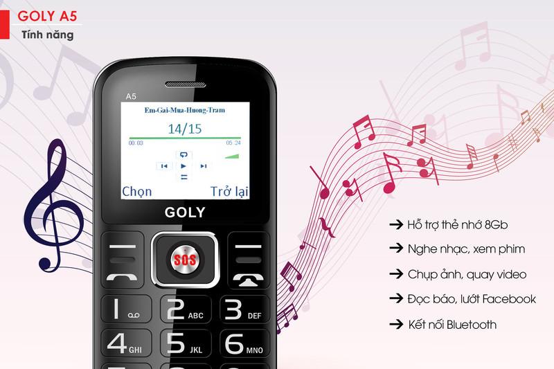 Điện thoại dành cho người già Goly A5 - Hãng phân phối chính thức 4