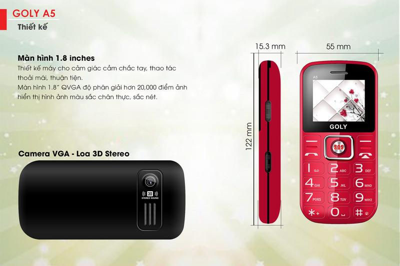 Điện thoại dành cho người già Goly A5 - Hãng phân phối chính thức 2