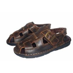 Sandal nam da bò thật. Bảo hành 12 tháng. MS: SD 17