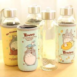 Bình thủy tinh có vỏ bọc giữ nhiệt - Bình hoạt hình Totoro